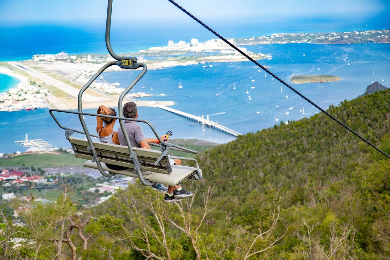 Rainforest Adventures gondola experience high is one of the top things top do in St Martin St Maarten
