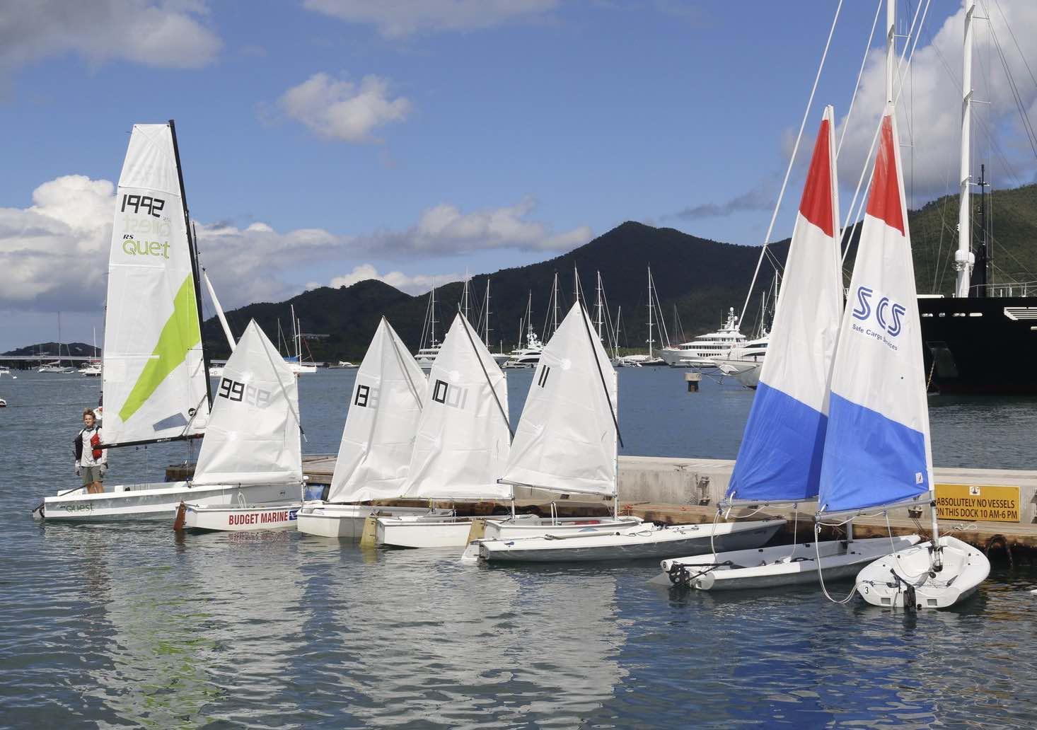 Sint Maarten Yacht Club Bar and Restaurant with sailboats at dock