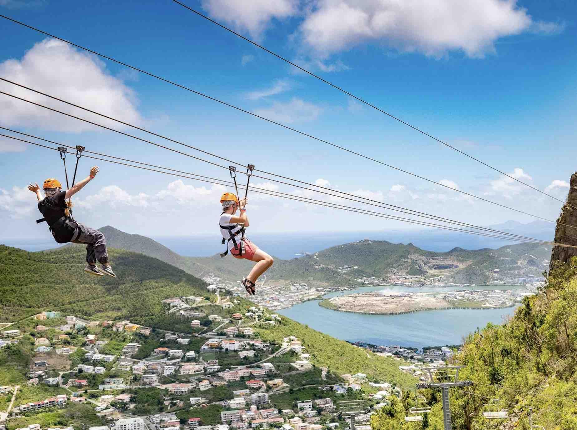Ziplining with Rainforest Adventures
