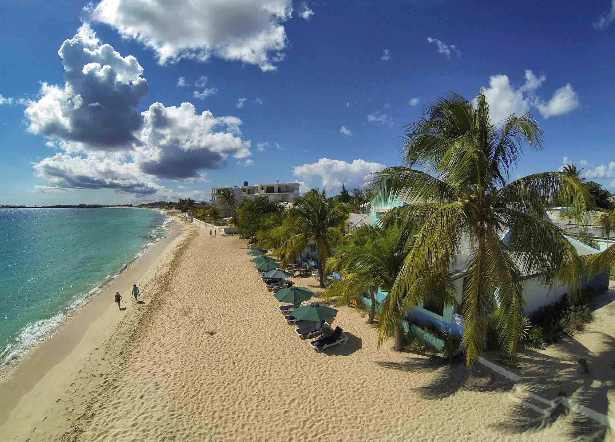 Azure Hotel and Art Studio beach view