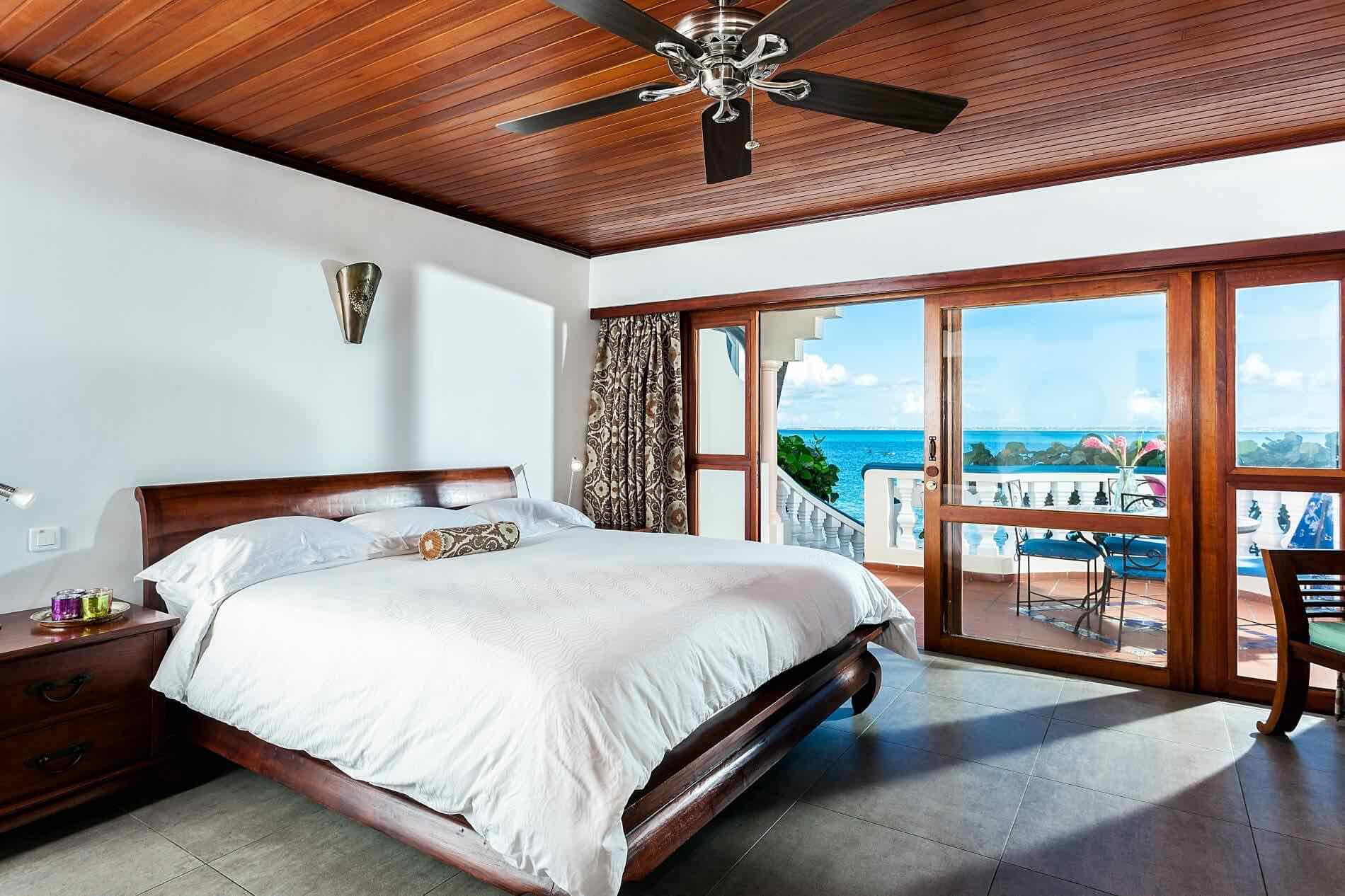 One of the best boutique hotels in St Martin is Le Petit Hotel showing room with ocean view
