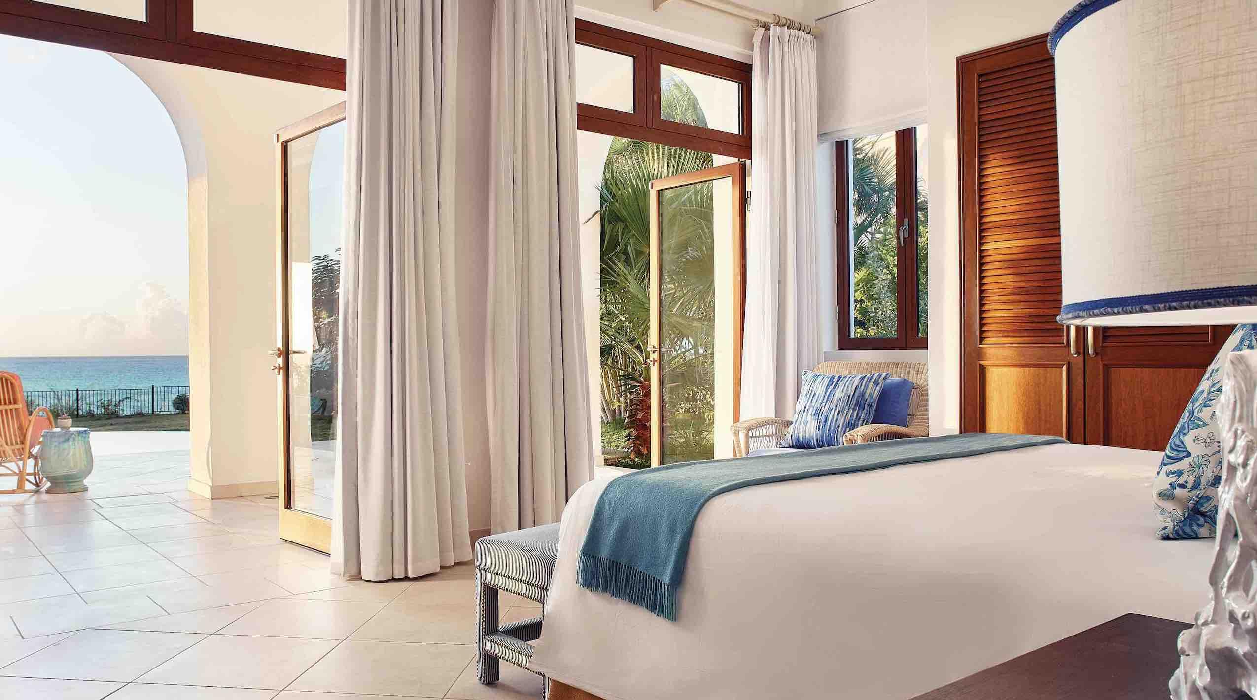 Belmond La Samanna bedroom with ocean view